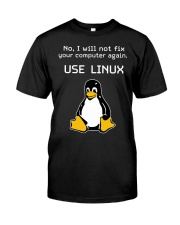 Use Linux Classic T-Shirt front