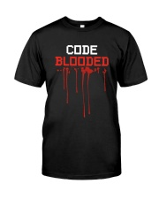 Code Blooded Classic T-Shirt front