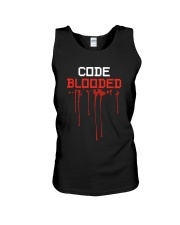 Code Blooded Unisex Tank thumbnail