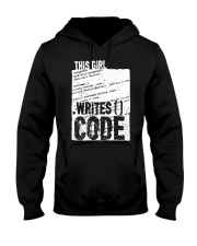 This girl writes code Hooded Sweatshirt tile