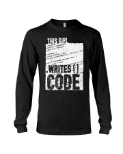 This girl writes code Long Sleeve Tee tile