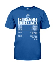 Programmer Hourly Rate Classic T-Shirt front
