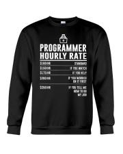 Programmer Hourly Rate Crewneck Sweatshirt thumbnail
