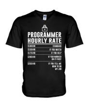 Programmer Hourly Rate V-Neck T-Shirt thumbnail
