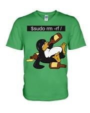 Sudo rm -rf V-Neck T-Shirt thumbnail