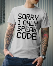 Sorry i only speak code Classic T-Shirt lifestyle-mens-crewneck-front-6