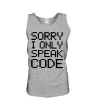 Sorry i only speak code Unisex Tank thumbnail