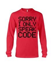 Sorry i only speak code Long Sleeve Tee thumbnail