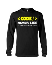 Code never lies Long Sleeve Tee tile