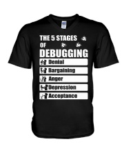 The 5 stages of debugging V-Neck T-Shirt thumbnail
