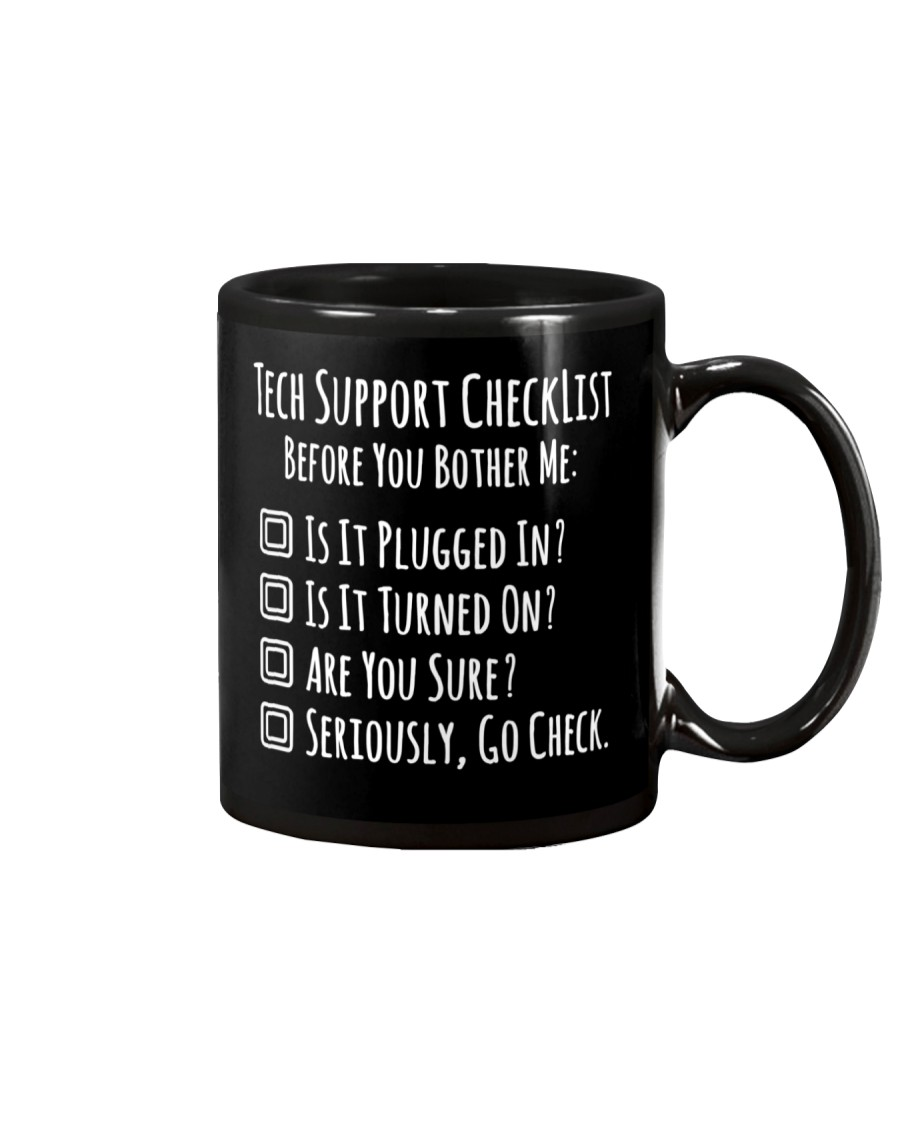 Tech Support Checklist Mug