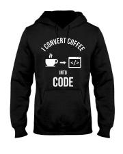 I convert coffee in to code Hooded Sweatshirt thumbnail