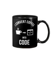 I convert coffee in to code Mug thumbnail