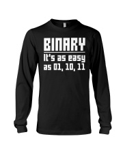 Binary it as easy as 01 10 11 Long Sleeve Tee thumbnail