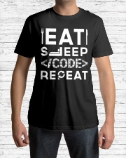 Eat sleep code repeat Classic T-Shirt lifestyle-mens-crewneck-front-1