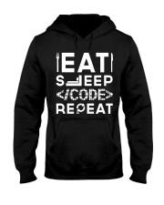 Eat sleep code repeat Hooded Sweatshirt thumbnail