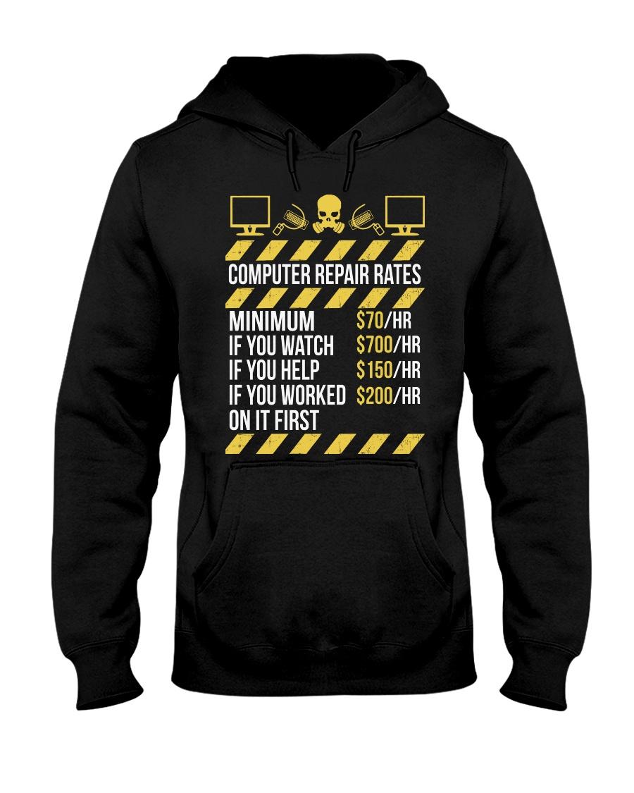 Computer Repair Rates Hooded Sweatshirt