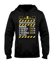 Computer Repair Rates Hooded Sweatshirt thumbnail