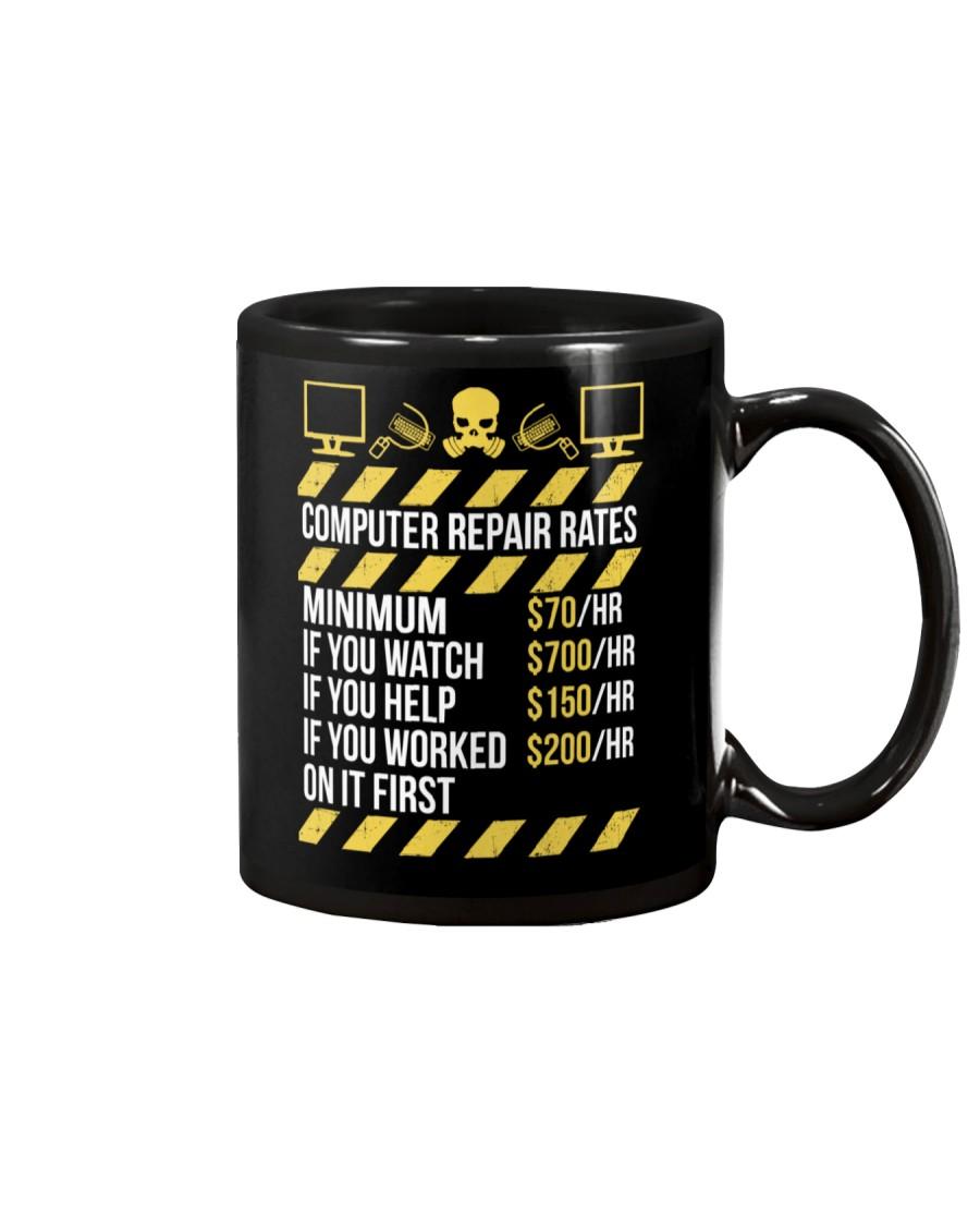 Computer Repair Rates Mug