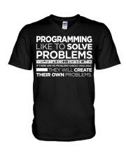 Programming Solve V-Neck T-Shirt tile