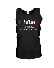 False Unisex Tank thumbnail