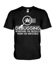 Debugging V-Neck T-Shirt thumbnail