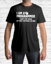 Programmer Stop When Done Classic T-Shirt lifestyle-mens-crewneck-front-1