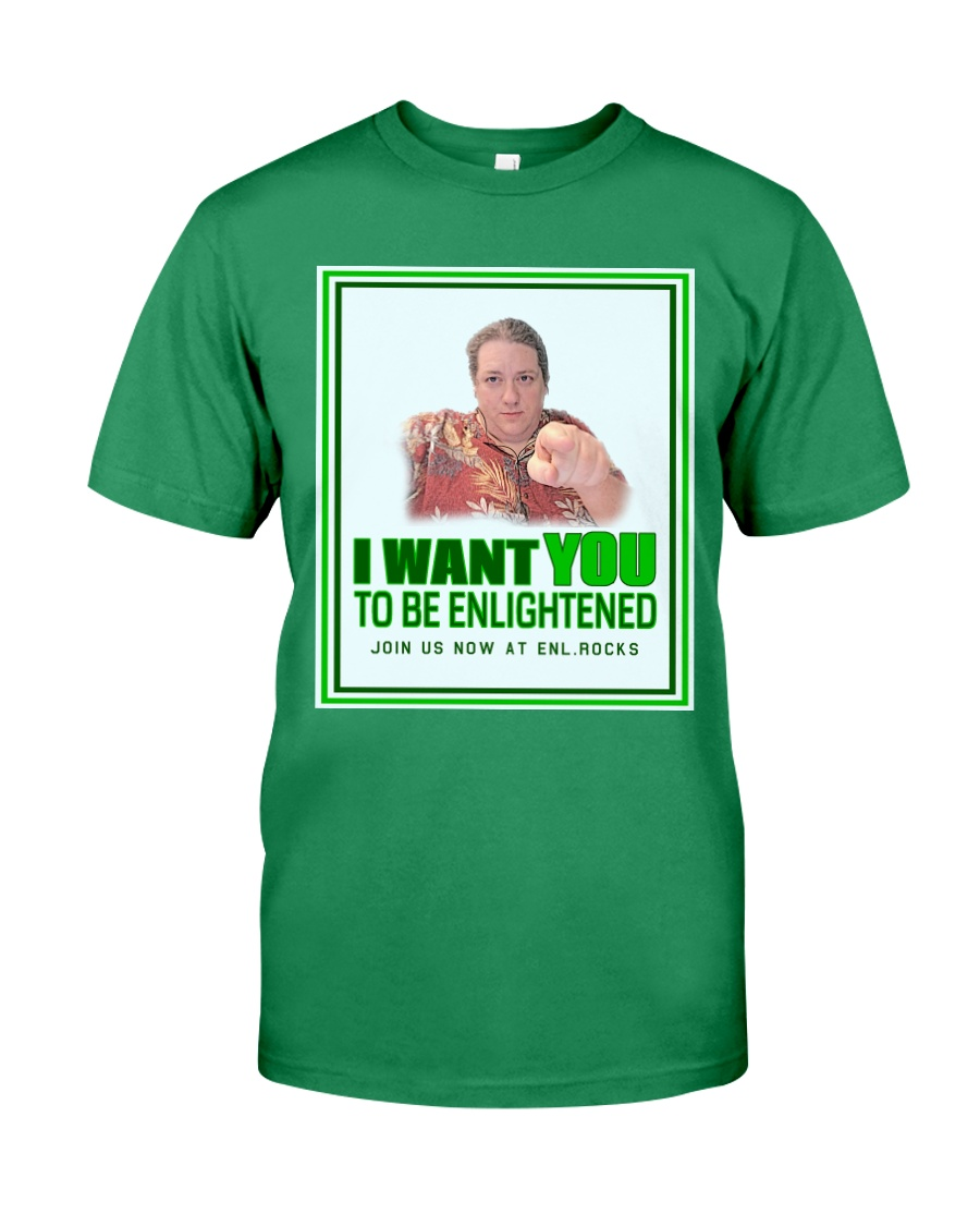 Uncle d0boy wants you to be Enlightened  Premium Fit Mens Tee