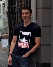 omgmeme V-Neck T-Shirt lifestyle-mens-vneck-front-1