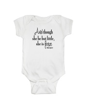 And though she be but little she is fierce Onesie thumbnail