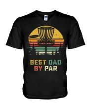 Best Dad By Par V-Neck T-Shirt thumbnail