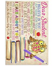 Dear Student Owl Style 11x17 Poster front