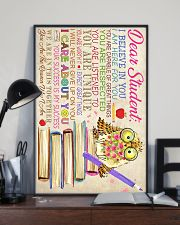 Dear Student Owl Style 11x17 Poster lifestyle-poster-2