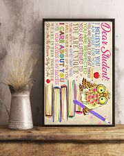 Dear Student Owl Style 11x17 Poster lifestyle-poster-3