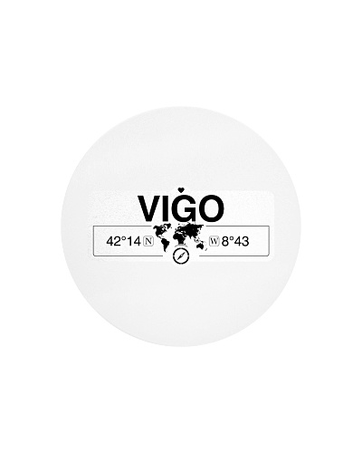 Vigo Galicia Coordinates Map Art