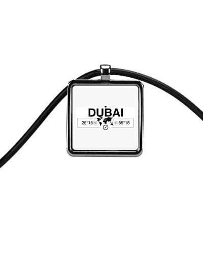Dubai Map Art Coordinates GPS