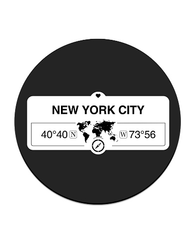 New York City America Map Coordinates