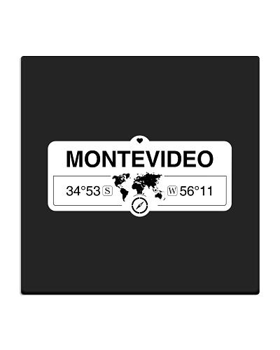 Montevideo Uruguay map coordinates