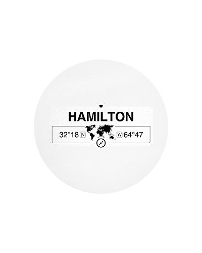 Hamilton Bermuda GPS Map Coordinate