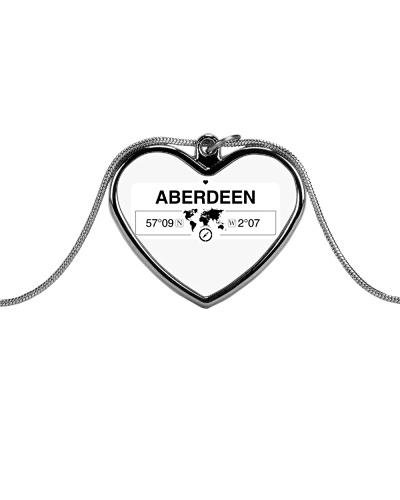 Aberdeen Scotland Map Art Coordinates GPS