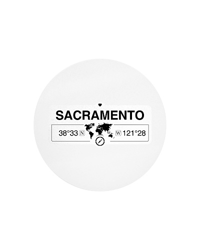 Sacramento California  Map Coordinates