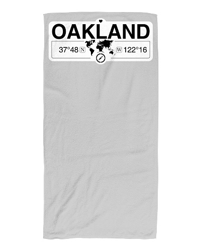 Oakland California Map Coordinates