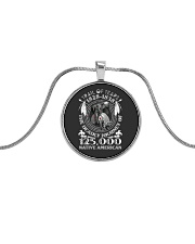 Trail Of Tears Metallic Circle Necklace front