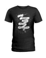 I solemnly swear that I am Social Distancing Ladies T-Shirt thumbnail