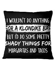 Shady Things For Margaritas and Tacos Square Pillowcase thumbnail