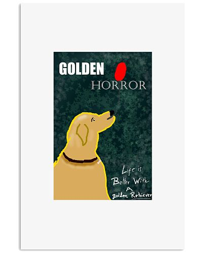 Golden retriever - Horror actor - Poster funny