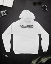 TrillDavinci red shoe Hooded Sweatshirt lifestyle-unisex-hoodie-front-9