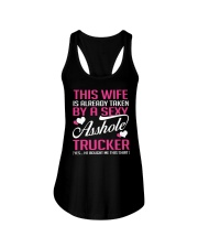 BY A SEXY TRUCKER Ladies Flowy Tank front
