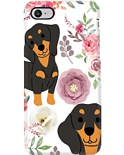 DACHSHUND WITH ROMANTIC FLOWERS Phone Case thumbnail