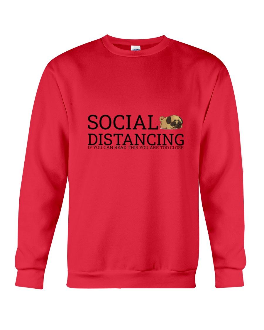 PUG SOCIAL DISTANCING Crewneck Sweatshirt